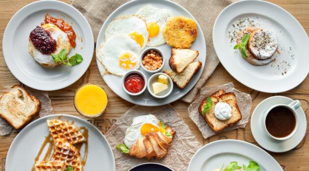 Breakfast Plates at a Restaurant